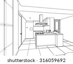 outline sketch drawing... | Shutterstock .eps vector #316059692