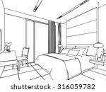 outline sketch drawing... | Shutterstock .eps vector #316059782