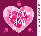 pink heart with the inscription ... | Shutterstock .eps vector #316061138