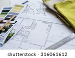 interior designer's working... | Shutterstock . vector #316061612
