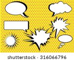 group of conversation bubbles... | Shutterstock .eps vector #316066796