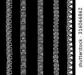 vector seamless black and white ... | Shutterstock .eps vector #316066862
