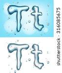 alphabet water  letter t   Shutterstock .eps vector #316085675