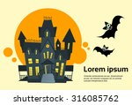 halloween house ghost party...   Shutterstock .eps vector #316085762