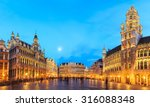 night scene of the grand place  ... | Shutterstock . vector #316088348