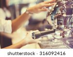coffee machine in coffee shop ... | Shutterstock . vector #316092416