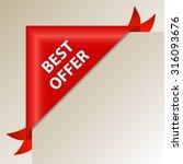 best offer   luxury red corner... | Shutterstock .eps vector #316093676