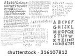hand drawn alphabet letters | Shutterstock .eps vector #316107812