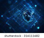 abstract business background... | Shutterstock . vector #316111682