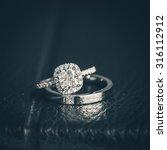 wedding rings | Shutterstock . vector #316112912