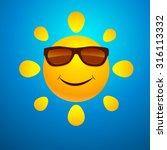 smiling sun | Shutterstock . vector #316113332