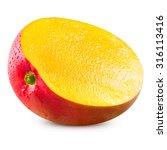 ripe mango isolated on white... | Shutterstock . vector #316113416