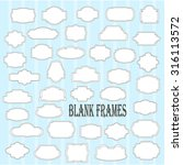 blank frame and label mega set. ... | Shutterstock .eps vector #316113572