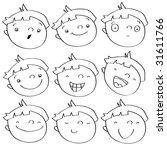 funny cartoon kid's faces...