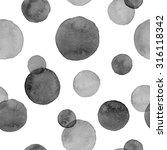 watercolor black on white... | Shutterstock .eps vector #316118342