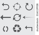 arrow icons | Shutterstock .eps vector #316119938