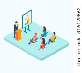 presentation training concept | Shutterstock . vector #316120862