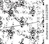 treble clef pattern  grunge ...