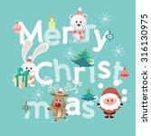 merry christmas lettering....   Shutterstock .eps vector #316130975