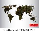 camouflage military world map... | Shutterstock .eps vector #316135952