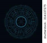 line technology  | Shutterstock .eps vector #316137275