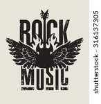 banner for rock music with... | Shutterstock .eps vector #316137305