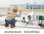 little baby boy waiting... | Shutterstock . vector #316140362