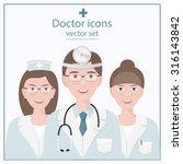 icon doctor. nurse symbol...   Shutterstock .eps vector #316143842