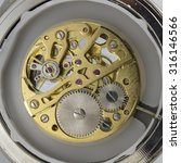 close up view of old clock's... | Shutterstock . vector #316146566