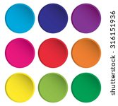 blank colorful rounded web... | Shutterstock .eps vector #316151936