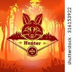 vintage fox labels. retro... | Shutterstock .eps vector #316153922