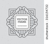 Black Mono Line Frame On Light...
