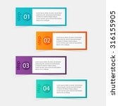 vector colorful info graphics... | Shutterstock .eps vector #316155905