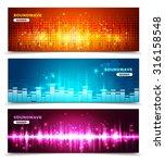 audio equalizer sound wave... | Shutterstock .eps vector #316158548