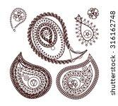 henna indian tattoo doodle... | Shutterstock .eps vector #316162748
