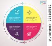 infographics  pie chart  graph  ... | Shutterstock .eps vector #316165592