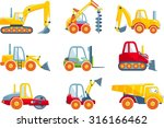 different kind of toys heavy... | Shutterstock .eps vector #316166462