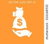 pictograph of money in hand.... | Shutterstock .eps vector #316168532