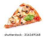 Slice Of Tasty Pizza With...
