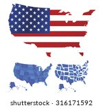 usa map  | Shutterstock .eps vector #316171592