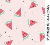 watermelon seamless pattern... | Shutterstock .eps vector #316179302