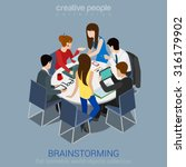 brainstorming creative team... | Shutterstock .eps vector #316179902