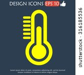 thermometer icon. flat design... | Shutterstock .eps vector #316185536