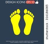 footprint   vector icon. flat... | Shutterstock .eps vector #316186085