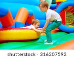excited kids having fun on... | Shutterstock . vector #316207592