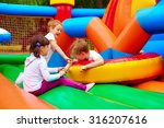 excited kids having fun on... | Shutterstock . vector #316207616