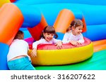 excited kids having fun on... | Shutterstock . vector #316207622