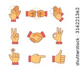clapping hands and other... | Shutterstock .eps vector #316221362