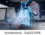 double exposure of businessman...   Shutterstock . vector #316221998