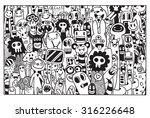vector illustration of monsters ... | Shutterstock .eps vector #316226648